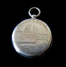 Perret Geneva Pocket Watch Silver Hand Engraved Case 1880