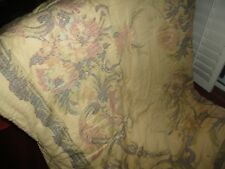 CROSCILL NORMANDY GOLD STRAW TUSCAN STYLE FLORAL CALIFORNIA/KING/KING COMFORTER