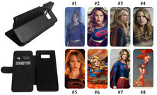 Supergirl Superman Phone Case Flip Wallet kick stand for Samsung Galaxy Note S9