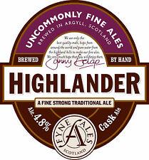 Framed Print - Real Ale Pump Clip Highlander Fyne Ales Scotland (Picture CAMRA)