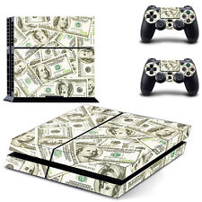 US Dollars Design Decal Skin Stickers For Playstation 4 PS4 Controller Cover USA