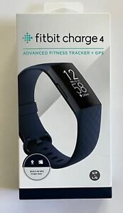 Fitbit Charge 4 Fitness GPS Tracker - Blue S/P + L/G (Bundle w/ extra band)
