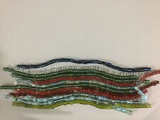Cane Furnace Glass Beads lamp work fused art 10 Strands Multicolored