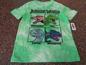 Old Navy Jurassic World Green Tie-Dye SS T-Shirt Youth Boys Medium (8) NWT