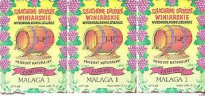 3 x Weinhefe MALAGA für Weiß- Rotweine Naturhefe Gärhefe