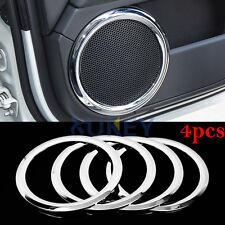 Fit For Patriot Compass 07-15 Chrome Door Stereo Speaker Collar Cover Trim Bezel