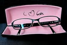 Bebe Debonair Black Gemstones Fashion Designer Glasses Womens Frames with Case