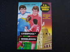 Liverpool Charity Shield Home Teams L-N Football Programmes