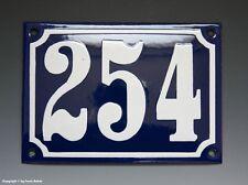 Emaux, E-Mail-numéro de maison 254 in bleu/blanc pour 1955