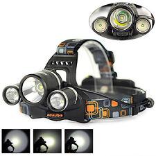 12000LM 3xXM-L T6+2R5 LED Rechargeable Headlamp 18650 Headlight Flashlight Torch