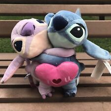 "Disney Lilo and Stitch Girlfriend ""Angel"" Hug With Red Heart Plush Toy""I LOVE U"""