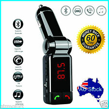 Wireless Bluetooth Car Kit Dual USB Charger Handsfree FM Transmitter SD Card AU