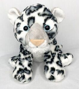 "Destination Nation Aurora Snow Leopard 11"" Life Like Plush Stuffed Animal"