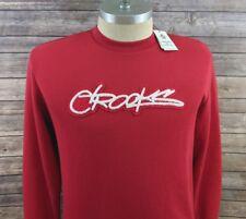 New Crooks & Castles Mens Sweater Sweatshirt Crew Neck Red Size XL
