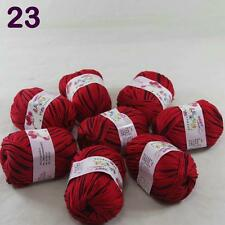 Lot 8ballsX50g Cashmere Silk Wool Children hand knitting Baby Yarn Red Black