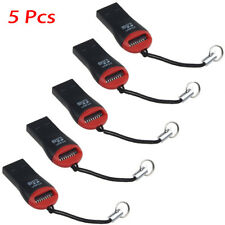 5Pcs Mini USB 2.0 Micro SD SDHC TF Flash Memory Card Reader Adapter For Laptop