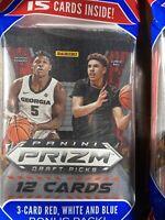 1 2020-21 Panini Prizm Draft Picks Basketball Cello Pack -Ball? Toppin?Wiseman?