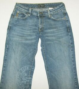 ARMANI Jeans INDIGO Series 004 Blue Bootcut Womens Jeans Made in ITALY Size 26