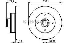 BOSCH Juego de 2 discos freno Trasero 226mm VOLKSWAGEN GOLF SEAT 0 986 478 331
