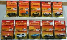 DTE 10 1983 CARD MACAU MATCHBOX SUPERFAST 11 36 38 39 44 53 54 55 66 & 67 NIOP