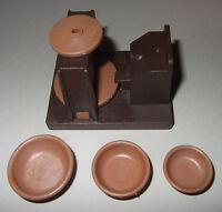 24111, 1x Töpferscheibe mit 3 Schüsseln, dunkelbraun, hellbraun (aus 3455)