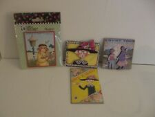 Lot of 4 Mary Engelbreit Magnets Count Blessings, Have a Heart, Happiness