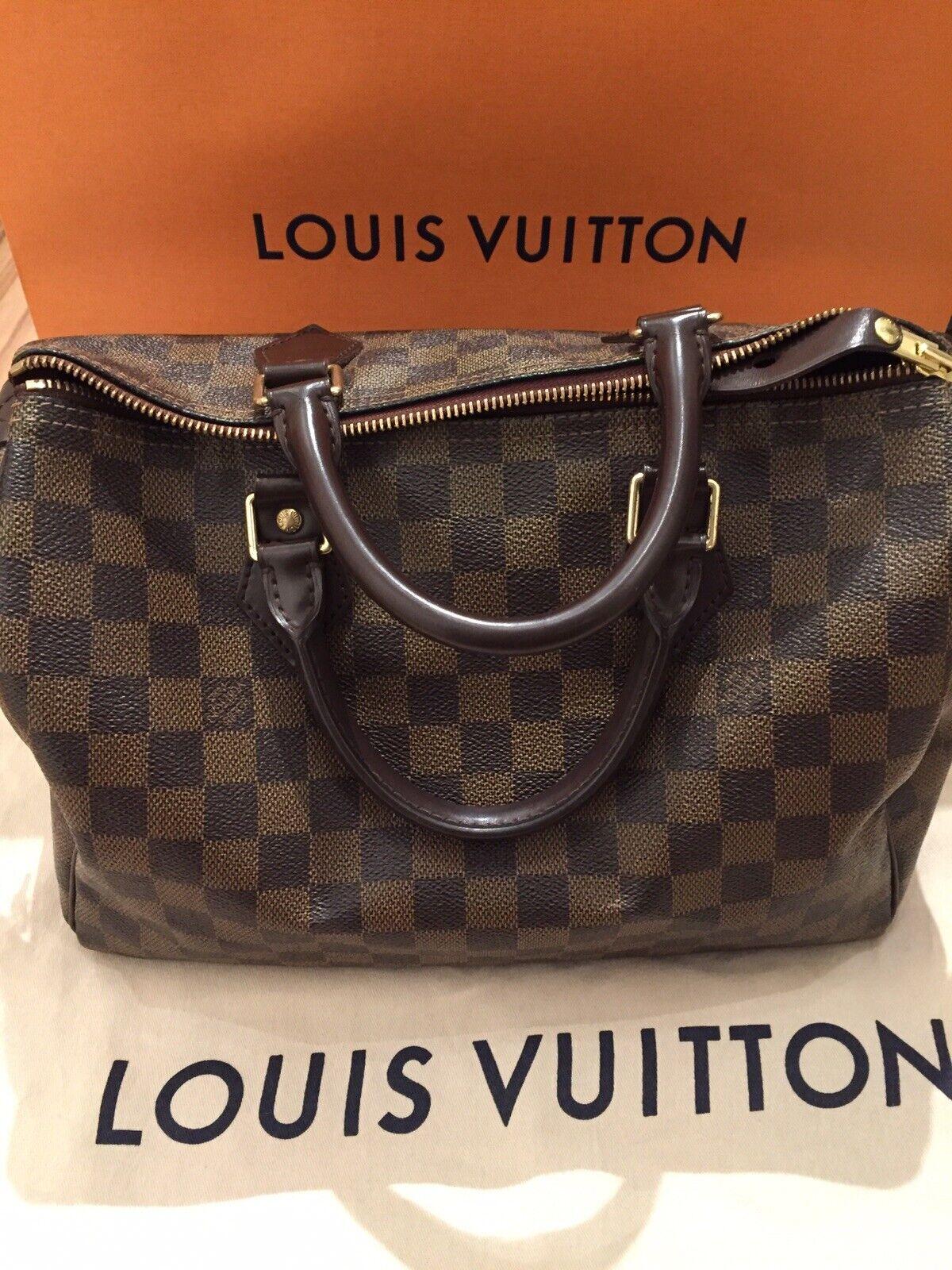 ba7511d58c874 ORIGINAL ❤ Louis Vuitton Speedy 30 Damier Tasche mit Staubbeutel!