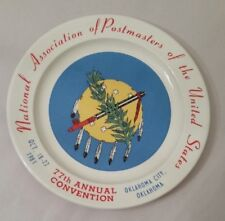 National Association Of Postmasters Plate 77th Napus Convention 1981 Oklahoma