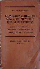 1952 NEW YORK CITY POST OFFICE SEPARATION SCHEME BOOKLET (MANHATTAN & BRONX PO