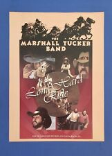 Original 1976 Large Marshall Tucker Promo 11x14 Poster Style Ad