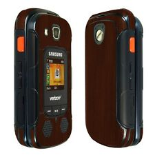 Skinomi Dark Wood Skin+Clear Screen Protector for Samsung Convoy 4
