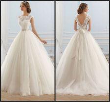 2015 Elegant white / ivory wedding dress bride wedding dress custom size +++++++