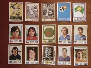 LOTTO FIGURINE CALCIATORI PANINI MONDIALI MUNCHEN 1974