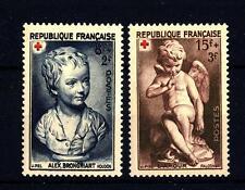 FRANCE - FRANCIA - 1950 - Pro Croce Rossa. Sculture