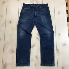Wrangler 34 x 30 Blue Jeans Denim Casual USA Made