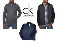Calvin Klein Mens Full Zip Mock Neck Collar Sweater Pick a size/color NWT