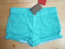SO 16 - Catimini Informal Chic Suave Pantalones Cortos Vaqueros, TURQUESA Talla
