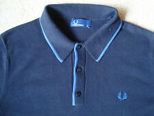 Fred Perry Blue Cotton Polo Shirt. Medium. Free UK Post