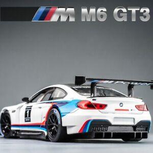 1:24 BMW M6 GT3 Sport Racing Car Model Toy Diecast Metal Alloy Miniature Gift