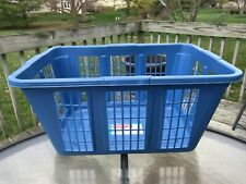 Vintage Retro Rubbermaid Laundry Basket Blue Large Roughneck Storage Hamper 1996