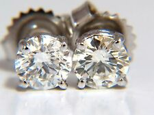 █$15000 1.47CT BRILLIANT FULL CUT CLASSIC DIAMOND STUD EARRINGS 14KT SPARKLE