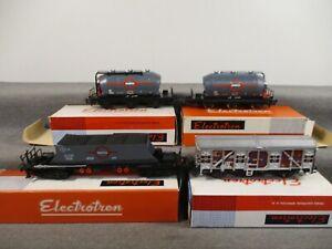 "Electrotren H0 5200 1402 1403 ver. Güterwagen ""Transfesa"" der DB in OVP P188"