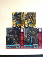 Studio Series Transformers Bundle 2 different BUMBLEBEEs , Megatron, and Jetfire