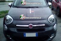 Moulure Cadre Profil Imprimé Acier Satinée Capot Fiat 500X