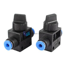 2Pcs HVFF4 4mm to 4mm Tube Push In Quick Connector Air Pneumatic Speed Control