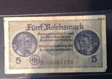 WWI 5.Reichsmark German Note