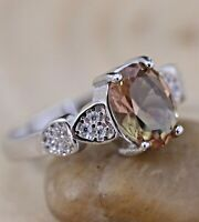 925 Sterling Silver Handmade Authentic Turkish Alexandrite Ladies Ring Size 6-12