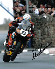 Ian Hutchinson 2007 Isle of Man TT signed 16 x 12 picture & proof certificate.