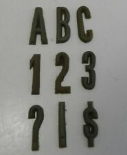 """255 Rubber Letters Numbers and Symbols Casting Stone Concrete Typeface 1"""" CAPS"""