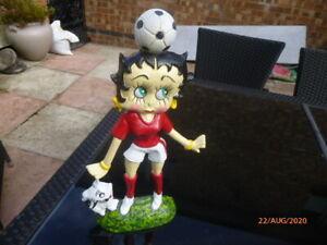 Cast Iron Betty Boop Doorstop red football strip Arsenal  Man Utd Liverpool etc